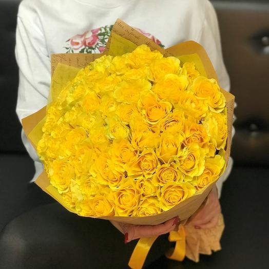 Розы Желтые. 51 ШТ. 50 СМ. N106: букеты цветов на заказ Flowwow