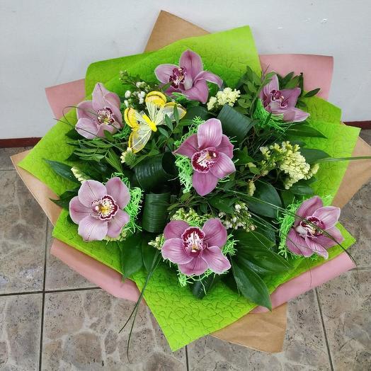 Орхидейная полянка: букеты цветов на заказ Flowwow