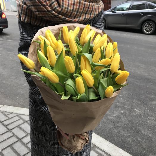 Солнечные тюльпаны по супер цене: букеты цветов на заказ Flowwow