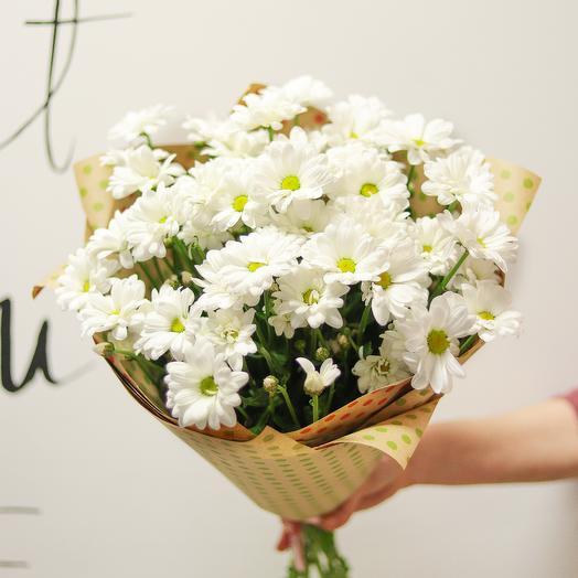 Ромашковые хризантемы: букеты цветов на заказ Flowwow