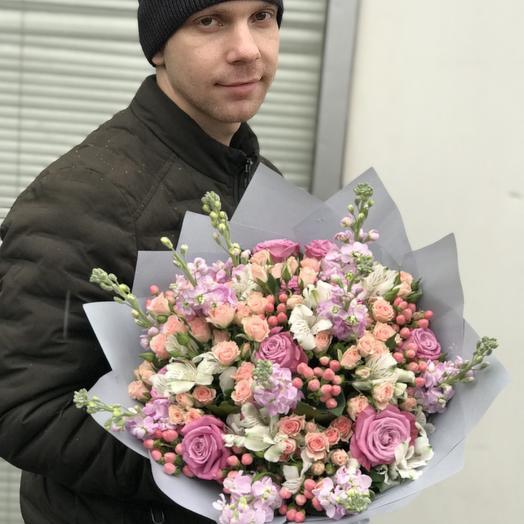 Нежный букет микс: букеты цветов на заказ Flowwow