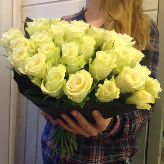 Букет из белых роз 50 см: букеты цветов на заказ Flowwow