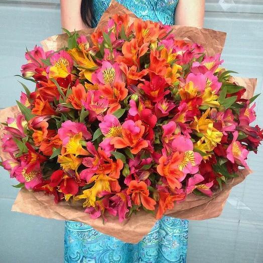 Букет из 39 разноцветных альстромерий: букеты цветов на заказ Flowwow