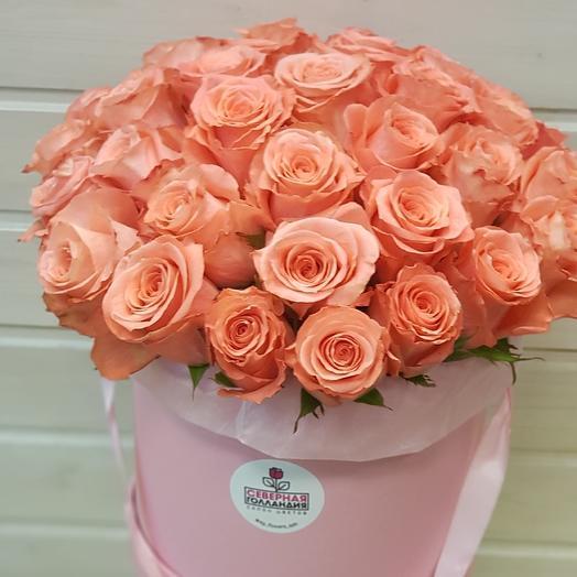 Коробка шляпная N 1: букеты цветов на заказ Flowwow