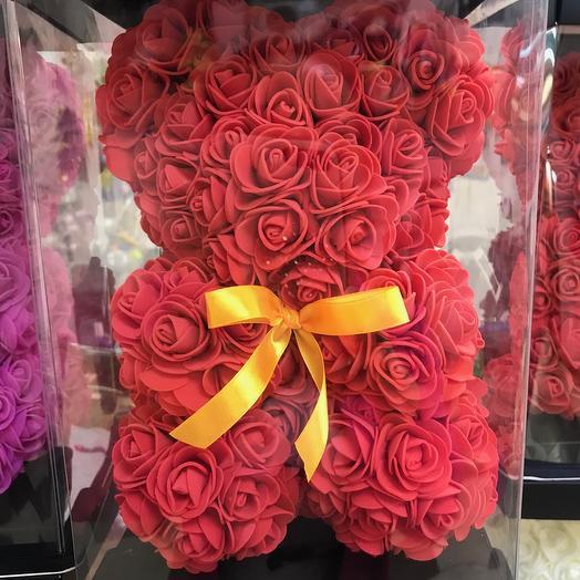 Медведь из роз: букеты цветов на заказ Flowwow