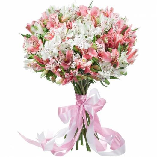 """Букет альстромерий """"Нежный микс"""": букеты цветов на заказ Flowwow"""