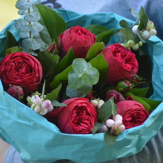 """Букет с пионовидными розами """"Феникс"""": букеты цветов на заказ Flowwow"""