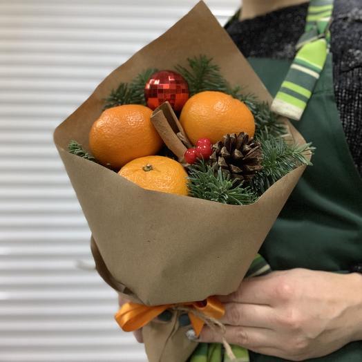 "Bouquet ""Christmas tangerine"": flowers to order Flowwow"