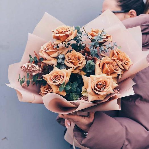 Розы к кофе: букеты цветов на заказ Flowwow