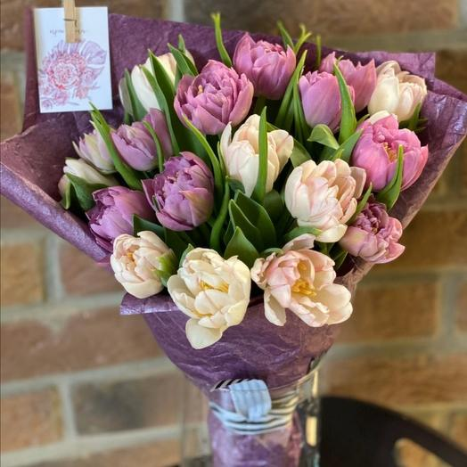 Монобукет из тюльпанов: букеты цветов на заказ Flowwow