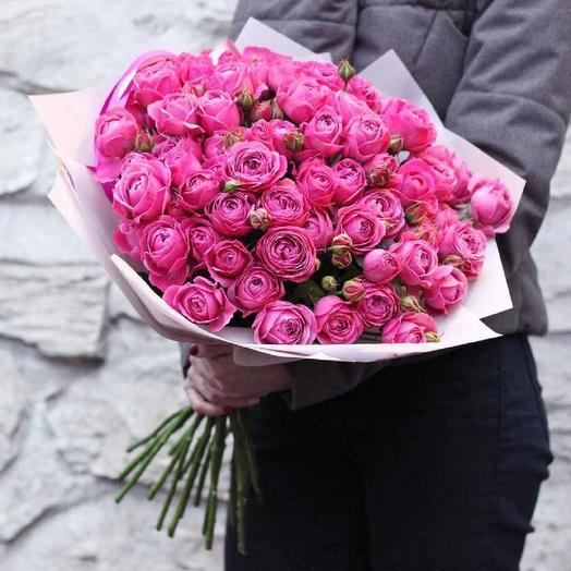 Букет из 29 пионовидных роз: букеты цветов на заказ Flowwow