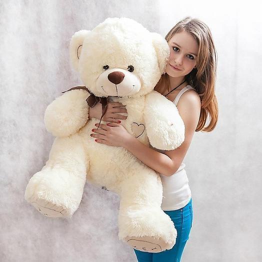 Большой Медведь Тимми 110 см (молочный)