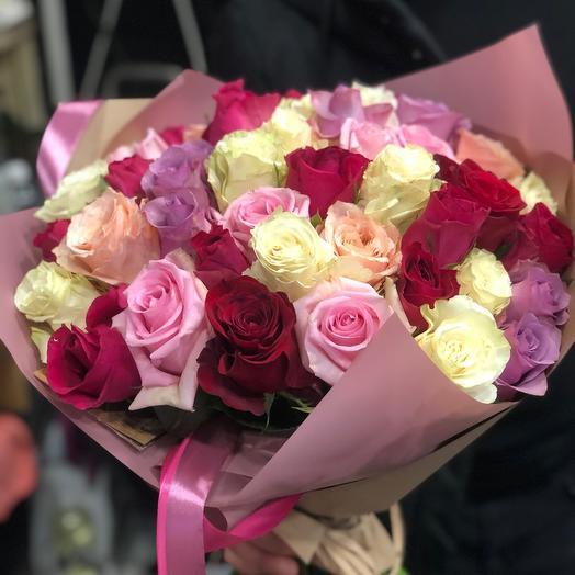 35 эквадорских роз