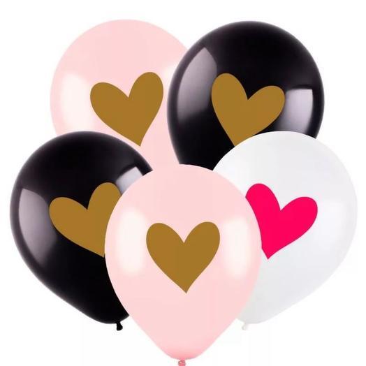 Сет с 5 шарами Сердце