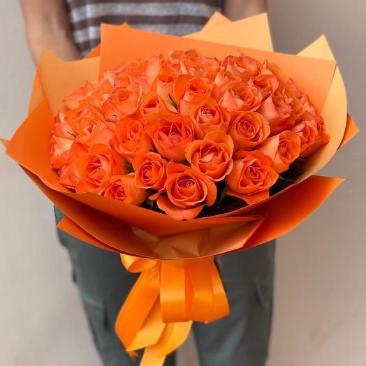 Букет из 49 оранжевых роз