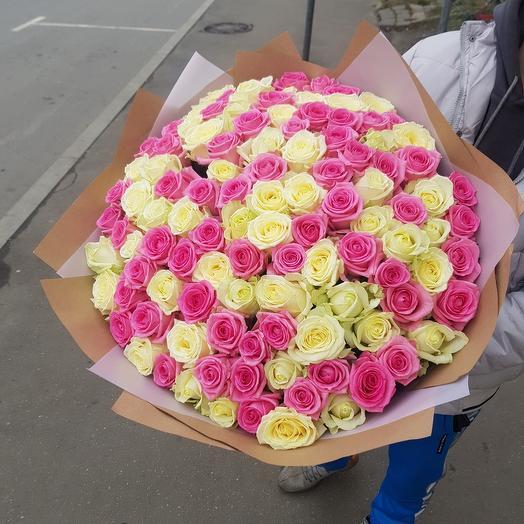 Букет из микисовых роза