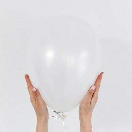 """Воздушный шар латексный""""Белый"""""""