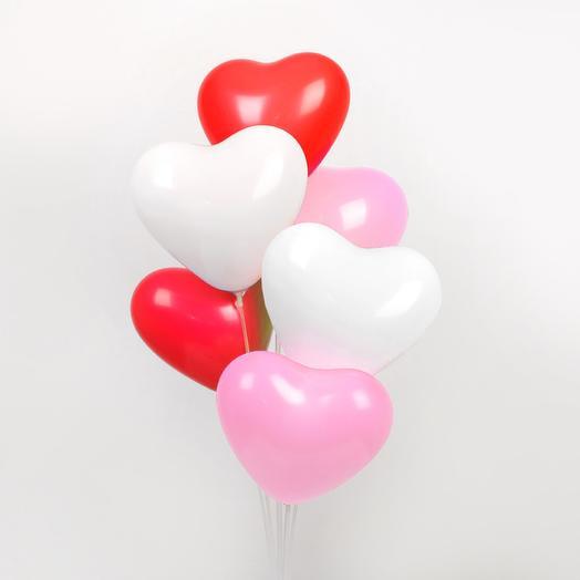Шар сердце 3 цвета