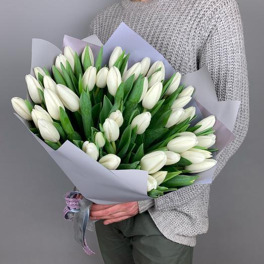 Букет «Белые тюльпаны»