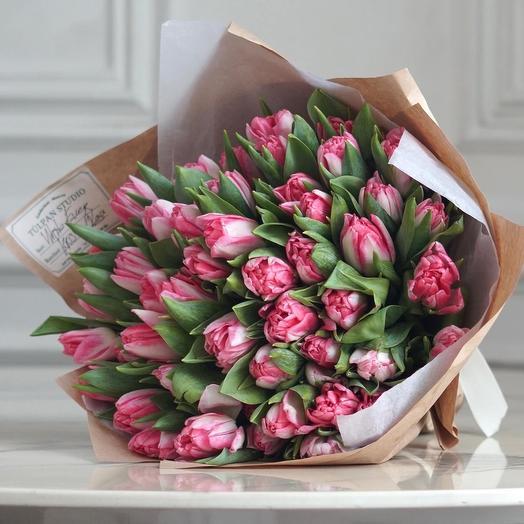 Пионовидный тюльпан розовый Fox Strot (51 шт)