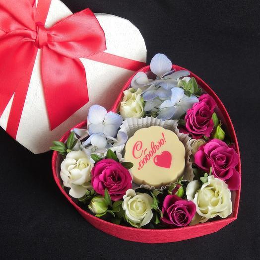 Бельгийский шоколад и цветы