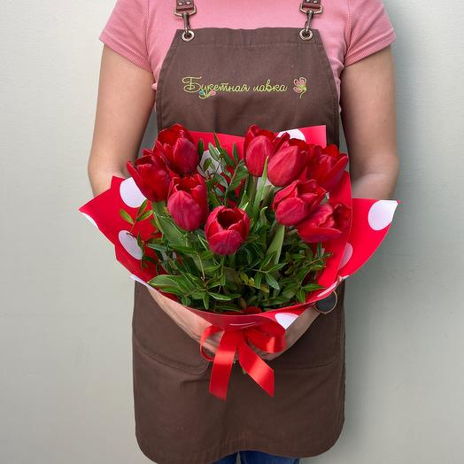 Bouquet of 9 tulips