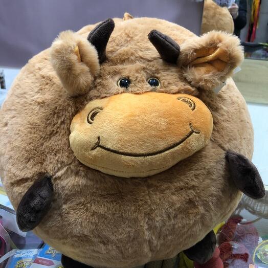 Игрушка подушка бычок