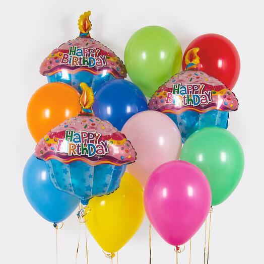 """Набор шаров """"Вкусный День рождения!"""""""