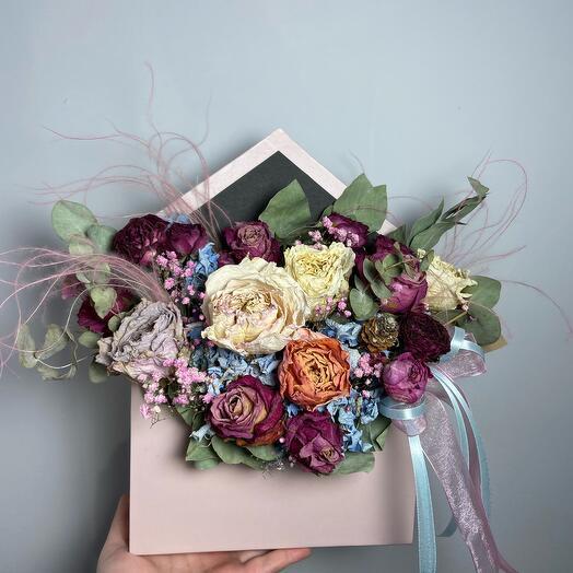Конверт с сухоцветами