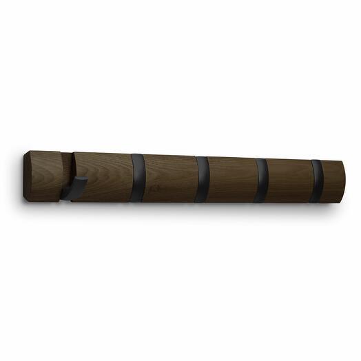 Вешалка настенная горизонтальная flip 5 крючков орех  Umbra 318850-048