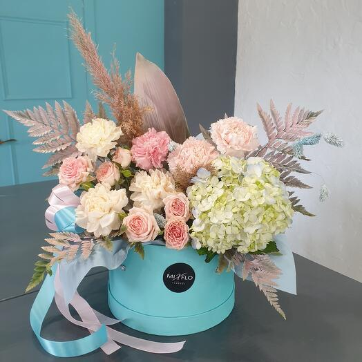 Цветы в коробке