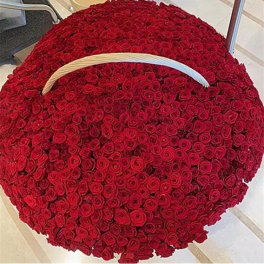 Корзина с цветами 1001