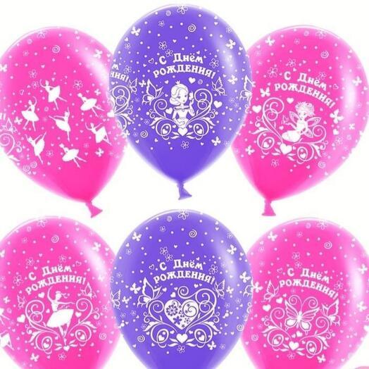 Набор шаров для девочки