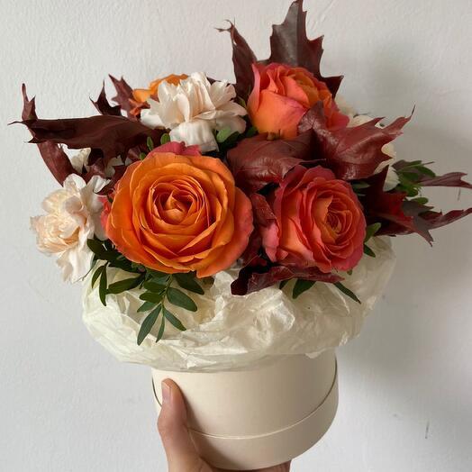 Цветы в коробке Осень
