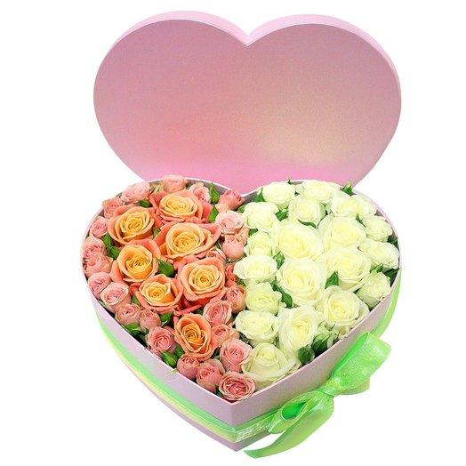 Сердце в коробочке 14: букеты цветов на заказ Flowwow