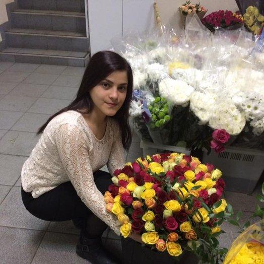 Букет радужный: букеты цветов на заказ Flowwow