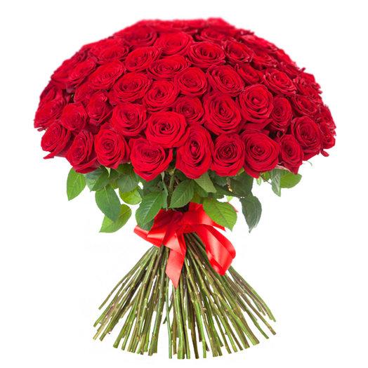Сто одна роза: букеты цветов на заказ Flowwow