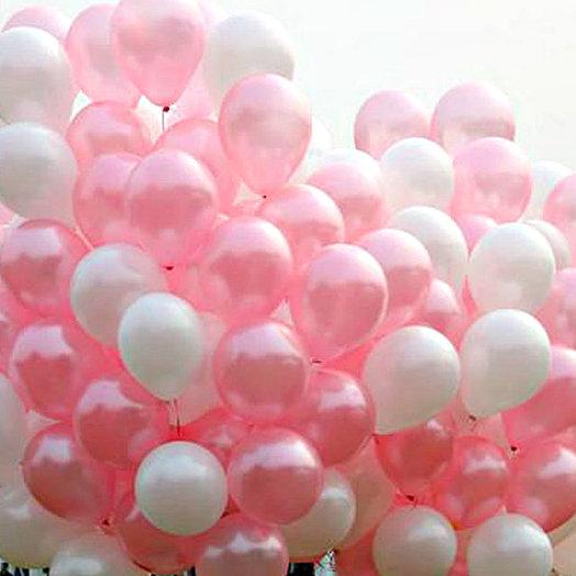 Нежный букет 130 шаров