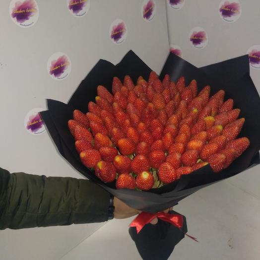 Клубничный рай: букеты цветов на заказ Flowwow