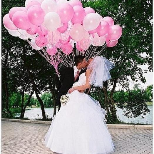Шары разноцветные   Воздушный поцелуй: букеты цветов на заказ Flowwow