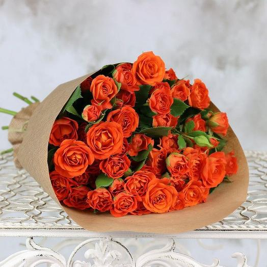 Букет из 9 Оранжевых роз: букеты цветов на заказ Flowwow