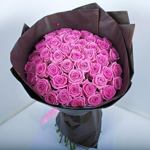 51-розовая роза 50 см: букеты цветов на заказ Flowwow
