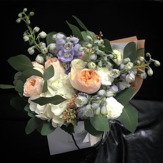 Джульетта и Дельфиниум: букеты цветов на заказ Flowwow