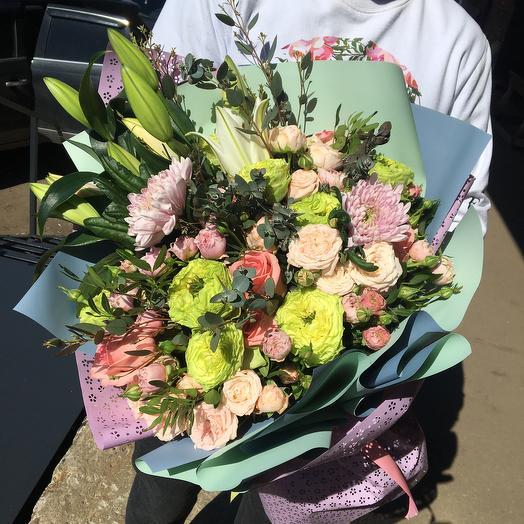 Большой букет цветов микс: букеты цветов на заказ Flowwow