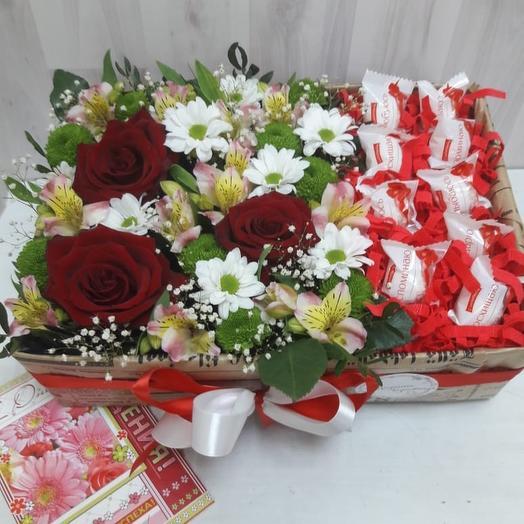Цветы и Рафаэлло: букеты цветов на заказ Flowwow