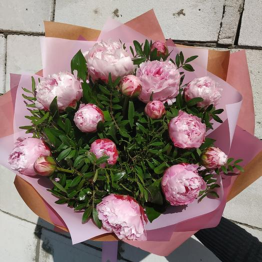 """Букет """"Пионовая нежность"""": букеты цветов на заказ Flowwow"""