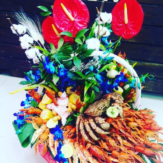 Крабовый Босс: букеты цветов на заказ Flowwow