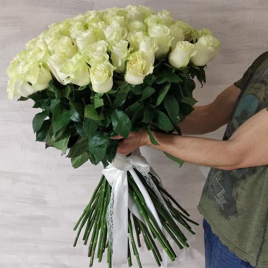 Букет из белой 101 розы