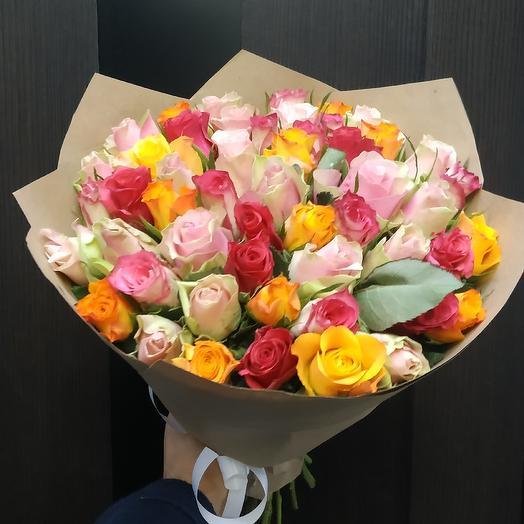 51 роза микс для вашей второй половинки: букеты цветов на заказ Flowwow