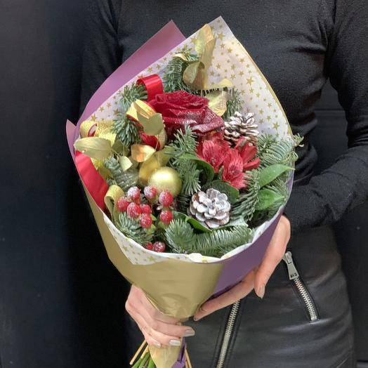 Букет «снежный декабрь»: букеты цветов на заказ Flowwow